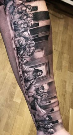 Pin by fabio on religiao relogio Heaven Tattoos, Dad Tattoos, Best Sleeve Tattoos, Tattoo Sleeve Designs, Tattoo Designs Men, Body Art Tattoos, Tattoos For Guys, Jesus Tattoo Sleeve, Tatoos