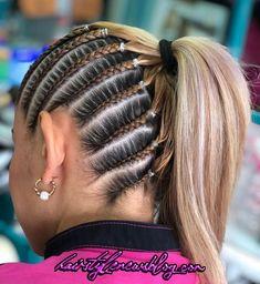 Braids For Short Hair, Easy Hairstyles For Long Hair, Cool Hairstyles, Curly Hair Styles, Natural Hair Styles, Hair Upstyles, Braided Ponytail Hairstyles, Hair Highlights, Hair Hacks