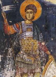 Another example of a Byzantine Sword as depicted in Art Fresco, Tempera, Middle Age Fashion, Church Icon, Russian Icons, Byzantine Art, Religious Icons, Orthodox Icons, Mural Painting