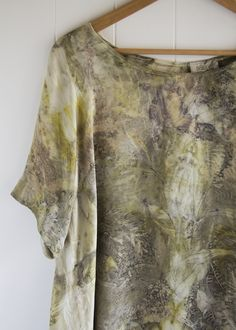 Forest & Flora Eco Dyed Silk Top Silk Charmeuse, Shades Of Red, Unique Colors, Silk Top, Tie Dye Skirt, Flora, Dyed Silk, Casual, How To Wear