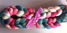 Kjærlig Merino spinning fiber by Ulljente on Etsy Spinning, Fiber, Hand Painted, Wool, Etsy, Hand Spinning, Indoor Cycling