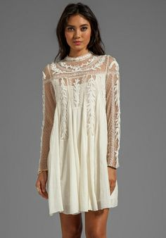 FREE PEOPLE Write About Love Dress in Natural