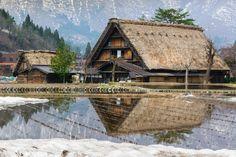 Traditional Japanese house in Shirakawa-go, Japan