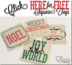 Free Christmas Tags by Shanty 2 Chic Merry Christmas, Christmas Love, Christmas Wrapping, All Things Christmas, Christmas Holidays, Christmas Ideas, Christmas Traditions, Christmas Decor, Christmas Ornaments