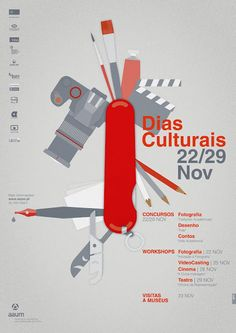"""poster for """"The Cultural Days"""" at Univerity of Minho by Gen Design Studio"""