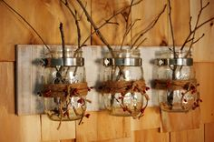 Pip Berries and Twine Mason Jars trio on by PineknobsAndCrickets, $42.00