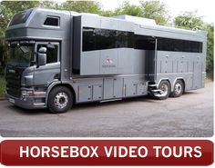Luxury Horseboxes For Sale | Bespoke | UK | Equicruiser Saw one of these baby's, once, horse trailer and tv bus in one, just insane!!