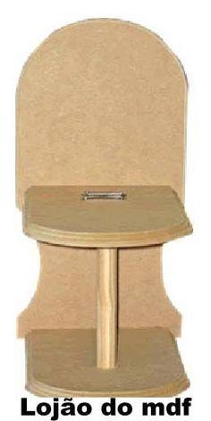 Porta-papel higienico mdf para 1 rolo - cod:BANH008 - Tamanho 15x29x18cm