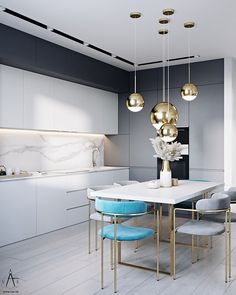 More kitchen design tips For those who love the gloss and beauty of an amazingly designed kitchen space Cred  Kitchen Design Open, Luxury Kitchen Design, Interior Design Kitchen, Open Kitchen, Kitchen Designs, Modern Kitchen Interiors, Home Decor Kitchen, Home Room Design, Dining Room Design