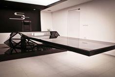Jovo Bozhinovski, Conference table, futuristic architecture, modern interior, futuristic office, futuristic furniture, futuristic table, future, private office, modern furniture, transparent table