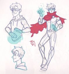 Billy Sketches by jicheshire. Marvel Art, Marvel Heroes, Marvel Comics, Young Avengers, New Avengers, Wiccan Marvel, Marvel Paintings, Marvel Background, Sketch Poses