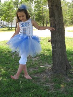 2t/3t, 4t/5t, 6/7-These Are The Droids You Are Looking For- Boutique R2D2 Tutu-  Inspired by Star Wars. via Etsy.