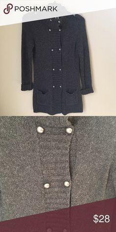 Caslon Long Grey Sweater Long Grey Cozy Sweater. Cotton Blend Caslon Sweaters Cardigans