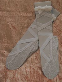 lace socks with ribbons