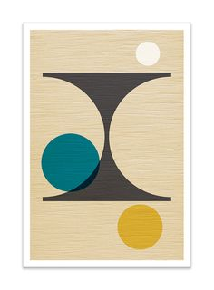 PER FORMARE no.2 Giclee Print Mid Century Modern by Thedor