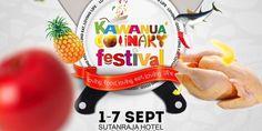 Warga Sulawesi Utara kembali akan disuguhi event kuliner. Setelah sebelumnya disuguhi Festival Kuliner Manado 2014 selama 3 hari, kali ini event serupa bertajuk Kawanua Culinary Festival akan digelar dengan durasi yang lebih lama yaitu selama seminggu yang akan dilaksanakan oleh SeBiar Organizer.