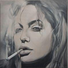 "Saatchi Art Artist Janet Fong; Painting, ""Angelina i"" #art #angelina jolie #painting"