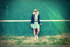 Bershka Bluzka-New Look GENERATION Spódnica- H&M Buty-Nike Air Max  Dodatki:  Okulary-House