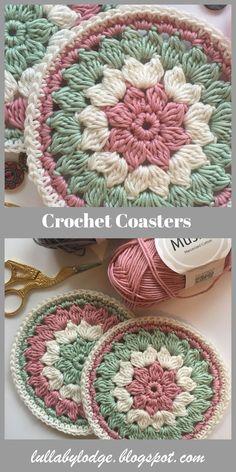 Mandalas for Mum – Pretty Crochet Coaster Pattern. Mandalas for Mum – Pretty Crochet Coaster Pattern.,*DIY NEEDLEWORK ►CROCHET◄ A last minute gift for Mum. Pretty crochet coasters, a free pattern suitable for beginners. Crochet Placemats, Crochet Doilies, Crochet Stitches, Crochet Home, Free Crochet, Knit Crochet, Quick Crochet Gifts, Crochet Afghans, Crochet Blankets