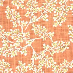Pretty fabric natural images Kate and Birdie Paper Co., Autumn Woods, Berries Persimmon