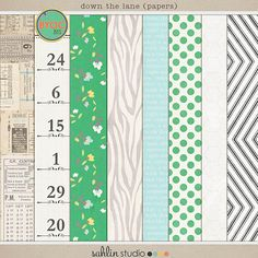 down the lane (papers) by sahlin studio 30% off through 3/31/14!
