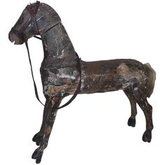 Americana 19thc Carved Wooden Horse