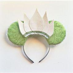 Princess Tiana Ears, Tiana Ears, Tiana Mickey Ears, Disney Inspired Princess and the Frog Ears, Princess Tiana