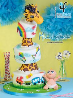 EDITOR'S CHOICE (06/19/2015) Baby and Giraffe by Michael Almeida View details here: http://cakesdecor.com/cakes/201942-baby-and-giraffe