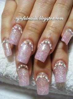 | Cynful Nails: pink bling