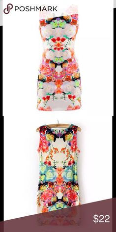 Vague Fashion Dress Body fitting  dress soft to the body with beautiful flowers ...fashion for the summer Vague Dresses Midi