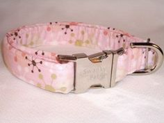 Sputnik - Pink 60's Style Retro Dog & Cat Collars by Swanky Pet