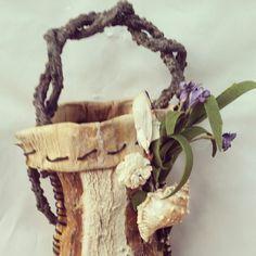 """Whimsical Treasures From the Coast"" Handmade one of of a kind sea kelp wall basket.  https://www.etsy.com/listing/204128622/handmade-beach-wall-hanging-sea-kelp? $45.00 sold"