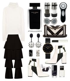 """""""Black and White"""" by sofirose ❤ liked on Polyvore featuring Osman, Loewe, Acne Studios, Pollini, OXO, Narciso Rodriguez, Oscar de la Renta, CLUSE, Marc Jacobs and Markus Lupfer"""