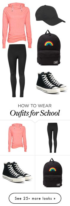 """Back to School Fashion: Simple College Style"" by nyfifth on Polyvore featuring Converse, Vans, BackToSchool, collegestyle and backtoschooloutfit"