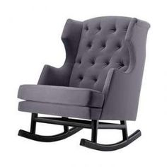 Empire Rocker from Nursery Works. I don't think that this rockers use should be minimized to only a nursery. I think the traditional sha. Nursery Rocker, Rocking Chair Nursery, Rocking Chairs, Baby Rocker, Modern Nursery Furniture, Baby Furniture, Antique Furniture, Furniture Ideas, Best Glider