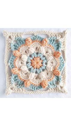 Granny Square Crochet Pattern, Crochet Stitches Patterns, Crochet Motif, Crochet Designs, Knitting Patterns, Bohemian Crochet Patterns, Free Crochet Blanket Patterns, Crotchet Patterns, Baby Afghan Crochet