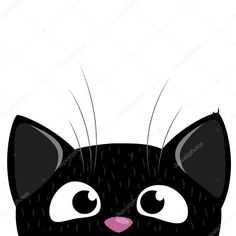 Peeking out curious cat background - Stock Illustration - Peeking out curious cat background – Stock Illustration - Logo Animal, Cat Background, Cute Couple Art, Silhouette Clip Art, Cat Cards, Cat Pattern, Cat Drawing, Cat Design, Fabric Painting