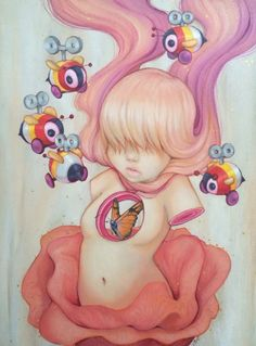 """Pollen""by Camilla de'Errico. Looks similar to James Jean... I LIKE :)"