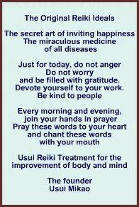 Free Reiki Distance Healing wonderful explanation of the reiki prayer