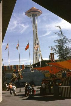 Space Needle completed for 1962 Worlds Fair in Seattle