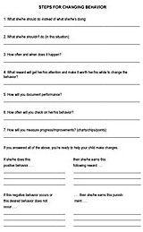 Steps for Changing Behaviors Modification Techniques Printable - FamilyEducation.com