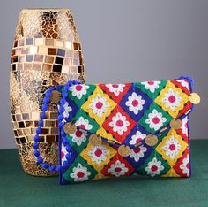 Thread Work Ethnic Shoulder Clutch