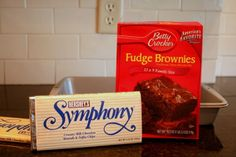 Symphony brownies. These were made after my dads funeral. They are AWESOME! Even better when warm & topped with vanilla ice cream
