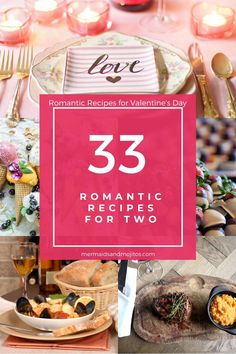 33 Romantic Recipes for two to Celebrate Valentine's Day! Simple and elegant recipes for a romantic Valentine's Day dinner. Thanksgiving Desserts Easy, Thanksgiving Side Dishes, Great Desserts, Fall Desserts, Romantic Dinner Recipes, Romantic Meals, Valentines Day Dinner, Valentines Food, Tailgating Recipes