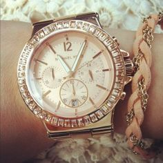 YES PLEASE. HINT HINT! Michael Kors Watch Rose Gold