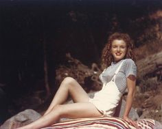 Norma Jeane photographed by David Conover, 1945.