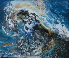 "One of  Maggi Hambling's ""Wave"" series paintings"