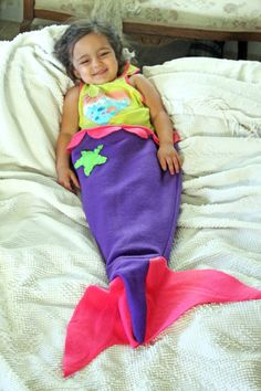 Sew a cute and cozy little mermaid tail for the little one who loves the sea! This mermaid tail pattern is free and easy to make!