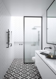 3 Astounding Tricks: Shower Remodel On A Budget Walk In shower remodeling ideas gray.Small Shower Remodel Before And After shower remodeling ideas gray.Tub To Shower Remodel Small Spaces. House Bathroom, Monochrome Bathroom, Bathrooms Remodel, Bathroom Interior Design, Bathroom Design, Bathroom Flooring, Small Bathroom Remodel, Bathroom Trends, Bathroom Trends 2018