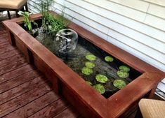 Aquaponics DIY - News On Trouble-Free Advice In Easy Aquaponics System - Mussiout Patio Pond, Ponds Backyard, Aquaponics Fish, Aquaponics System, Aquaponics Greenhouse, Container Water Gardens, Container Gardening, Raised Pond, Mini Pond